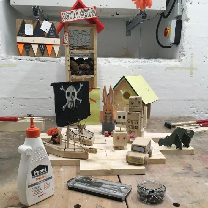 das neue Kinderkunsthaus - Holzwerkstatt