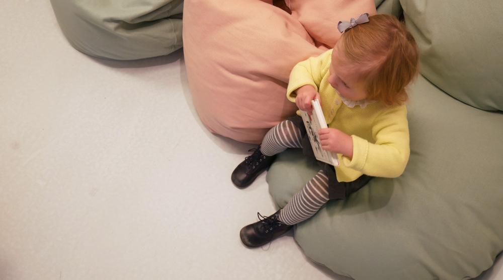 das neue Kinderkunsthaus - Sitzsaecke