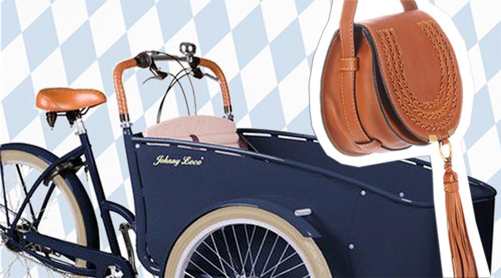 Lastenrad - Rad mit Tasche nah