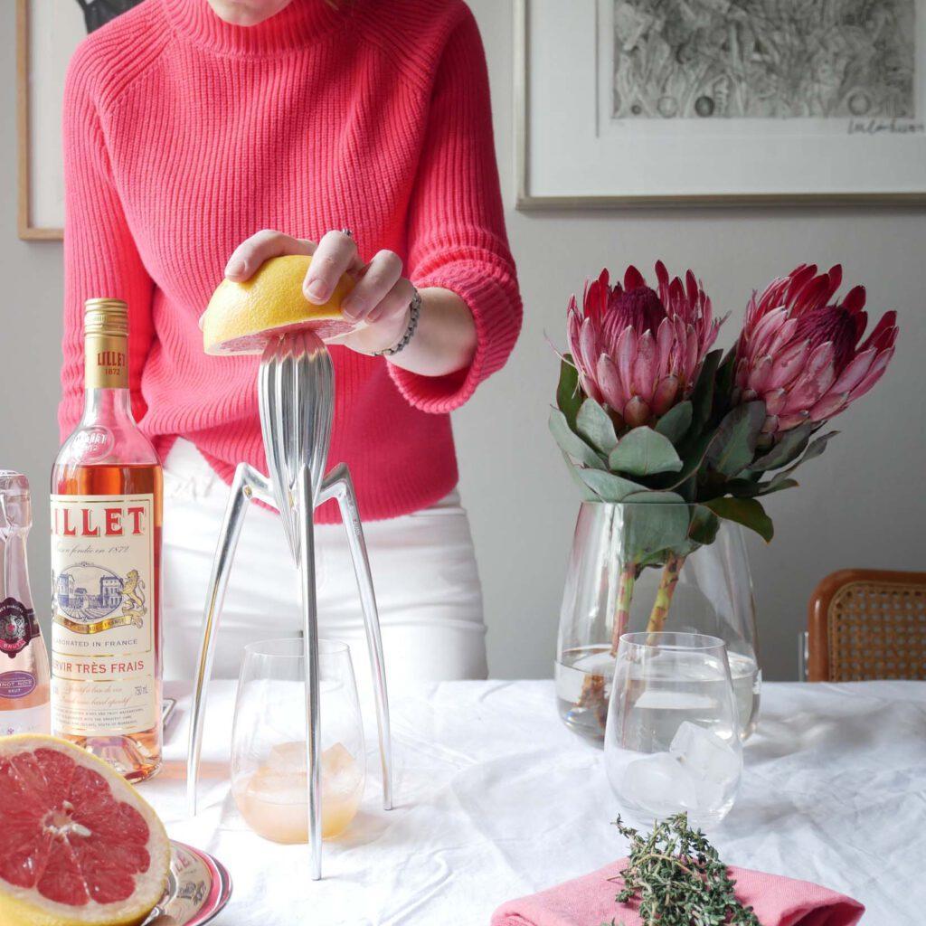 Coral & Citrus - Lillet Pink Drink