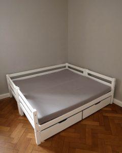Doppelbett fuer Geschwister - Spannbettbezug