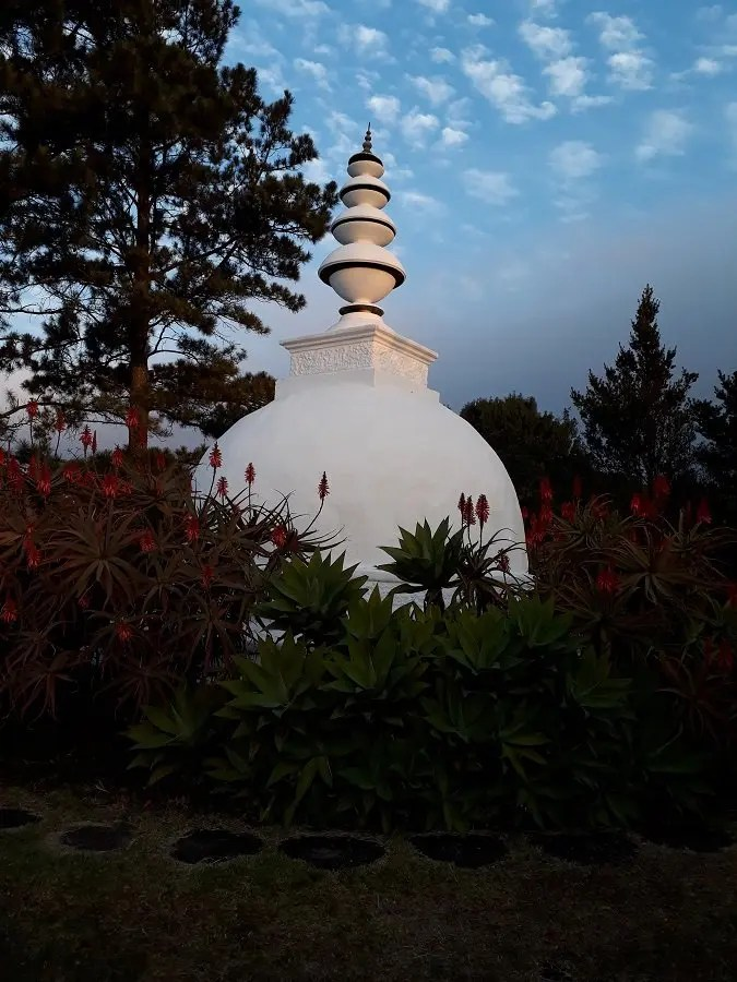 View of a Buddhist Monument at the Retreat