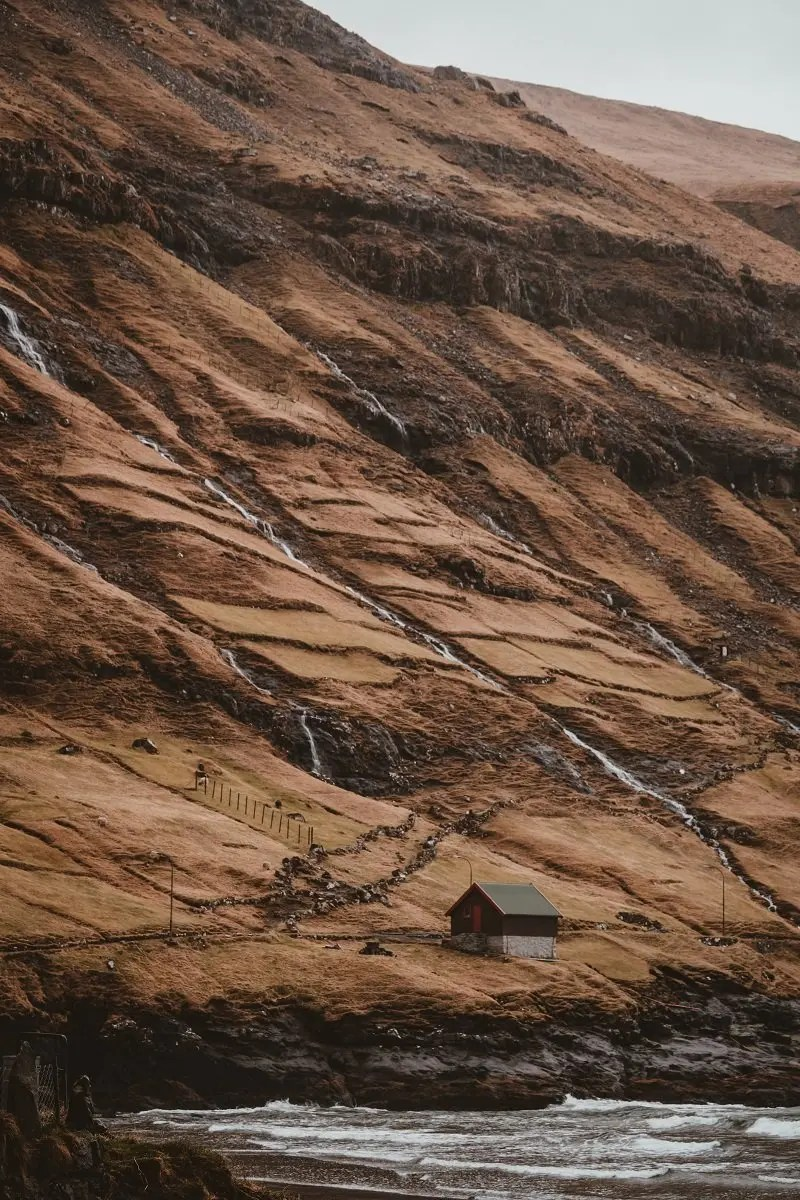 Isolated hut in Greenland