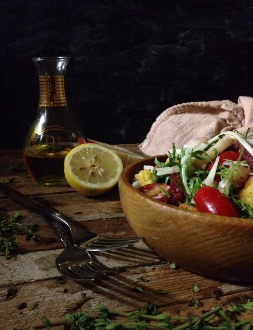 Cornbread Panzanella Salad via The Local Palate Magazine