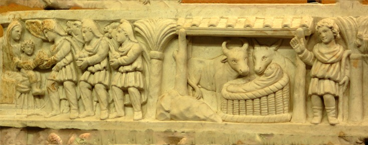 Right side, lid of the Sarcophagus of Crispina, 4th cent.
