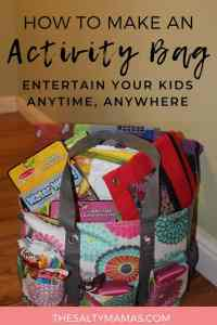 travel activity bag- portable storage solution for busy bags