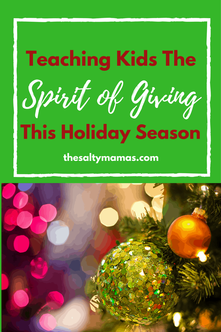 Are your kids acting spoiled this Christmas? Try this fun, simple way to teach kids the spirit of giving, from thesaltymamas.com.