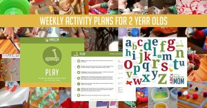 Weekly Activity Plans for Busy Toddlers- the no stress, low prep way to entertain your two year old at home.