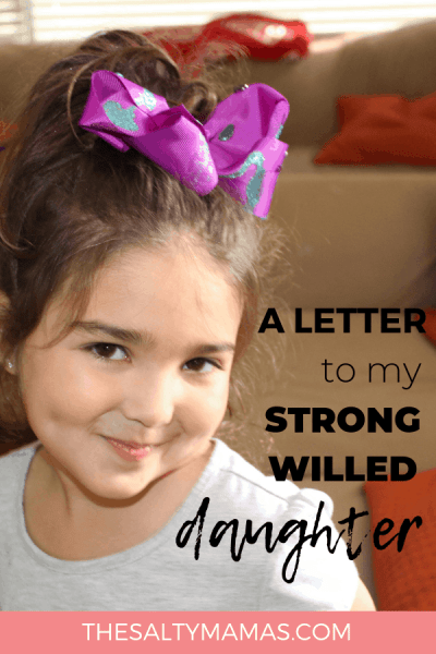 "Having a strong-willed daughter can be challenging, but it is also a huge blessing. Here's what I wish people knew about raising ""stubborn"" girls- from TheSaltyMamas.com. #strongwilledgirls #shepersisted #momlife #adviceformoms #parenting #parentingadvice"