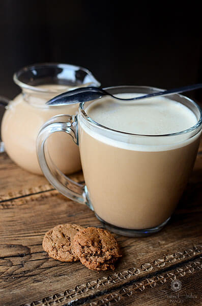 recipes for twenty super delicious hot drinks to warm you up during fall or winter! a perfect addition! This coffee creamer tastes just like baileys!