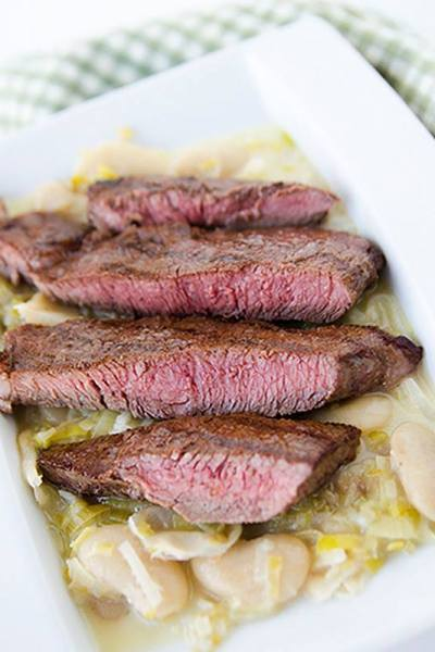 Recipe Review:  Grilled Fillet Steak with the Creamiest White Beans and Leeks