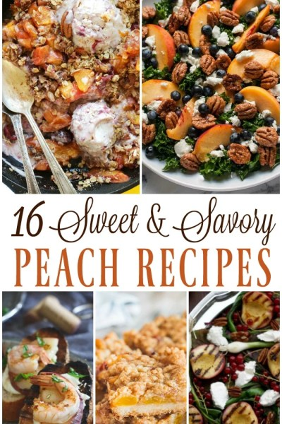 16 luscious ripe peach recipes to make you happy