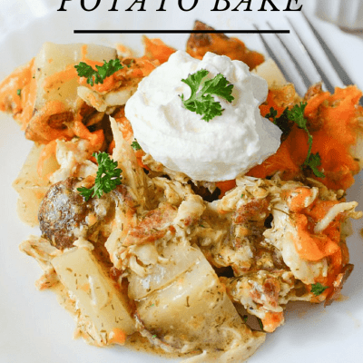 simple to make chicken ranch potato bake