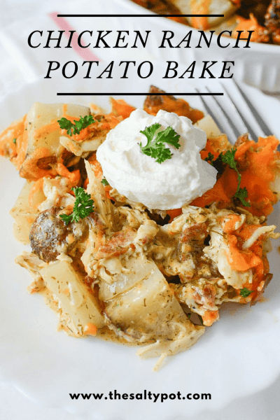 simple to make chicken ranch potato bake
