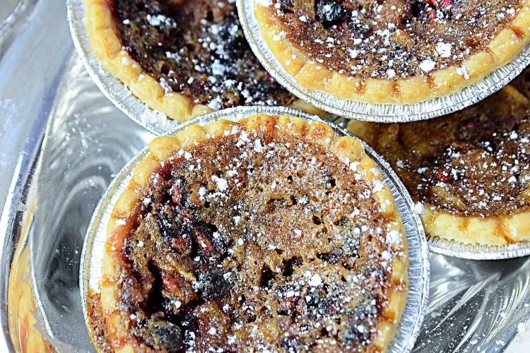 cranberry pear maple butter tarts