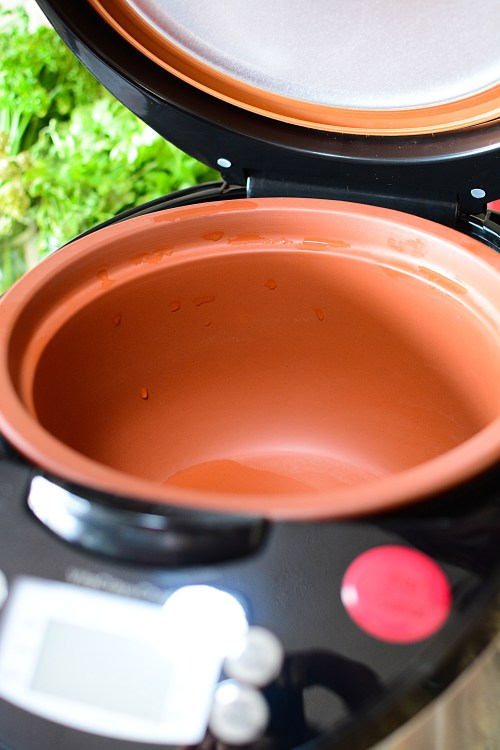 The VitaClay Chef Cooker. Better than a slow cooker because of the natural clay, unglazed insert. It creates cooked dishes with excellent flavor and texture!