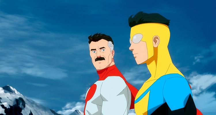 Nolan and Mark on a mountaintop in Amazon's Invincible