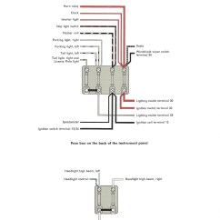 Wiring Diagram For Emergency Lighting Switch Rover 25 Tailgate Thesamba Karmann Ghia Diagrams