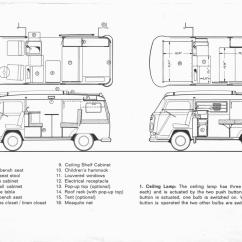 Vw T2 1970 Wiring Diagram Extension Ladder Parts Thesamba Westfalia Campmobile Operating