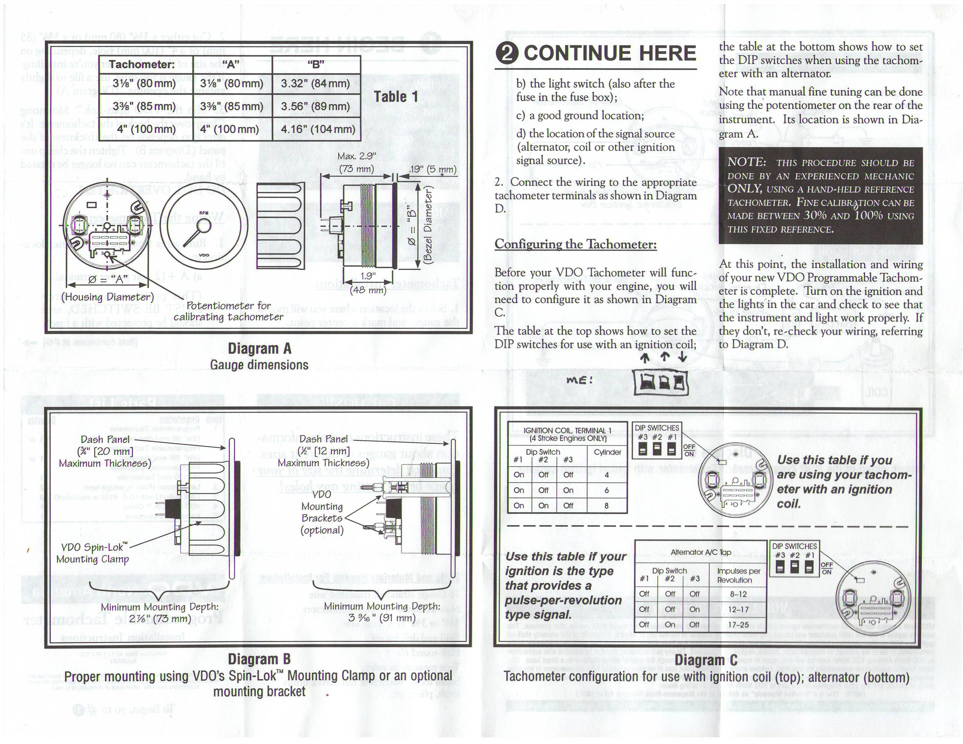 TheSamba.com :: VDO Programmable Tachometer Instructions
