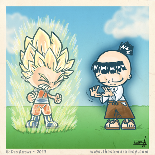 The Saiyan Ki vs the Samurai Ki - by Dan Arrows Samurai Boy