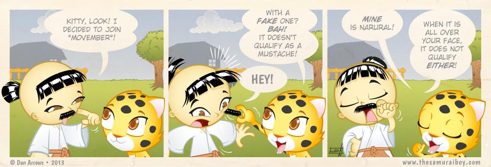 The Samurai Mustache – Movember!