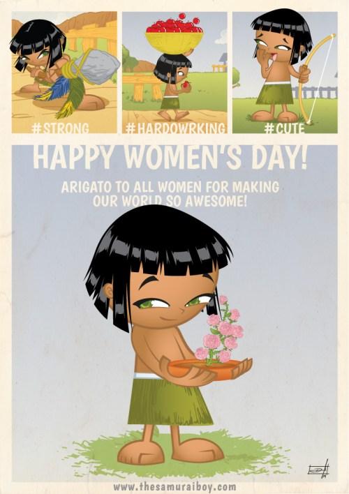 Happy woman's day - Samurai Boy
