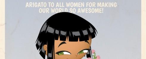 Feliz Dia Internacional da Mulher - Samurai Boy