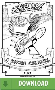 Arte para colorir - Samurai Boy: A Espada Celestial - Alika