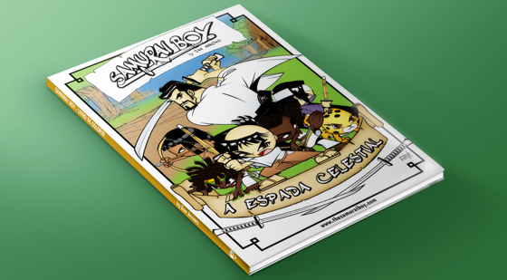 Participate in the promotion and GET a Samurai Boy coloring book