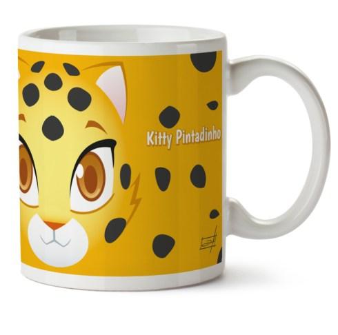 Caneca Porcelana Kitty Pintadinho