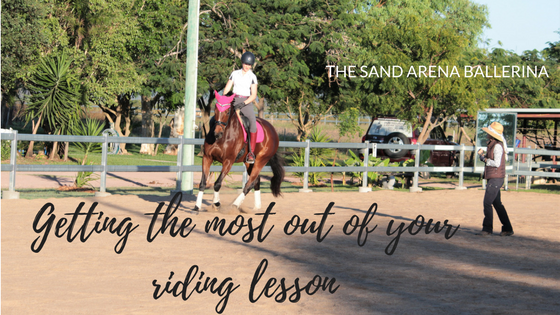 Getting the most out of your riding lesson