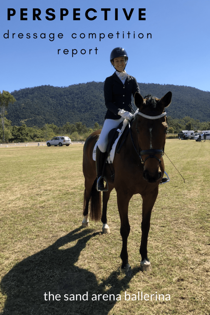 Perspective- dressage competition report