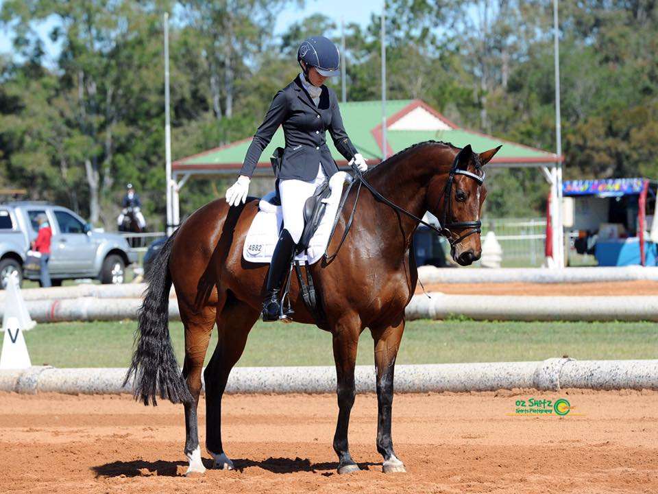 Nonie and I during one of our tests at the 2016 state dressage championships