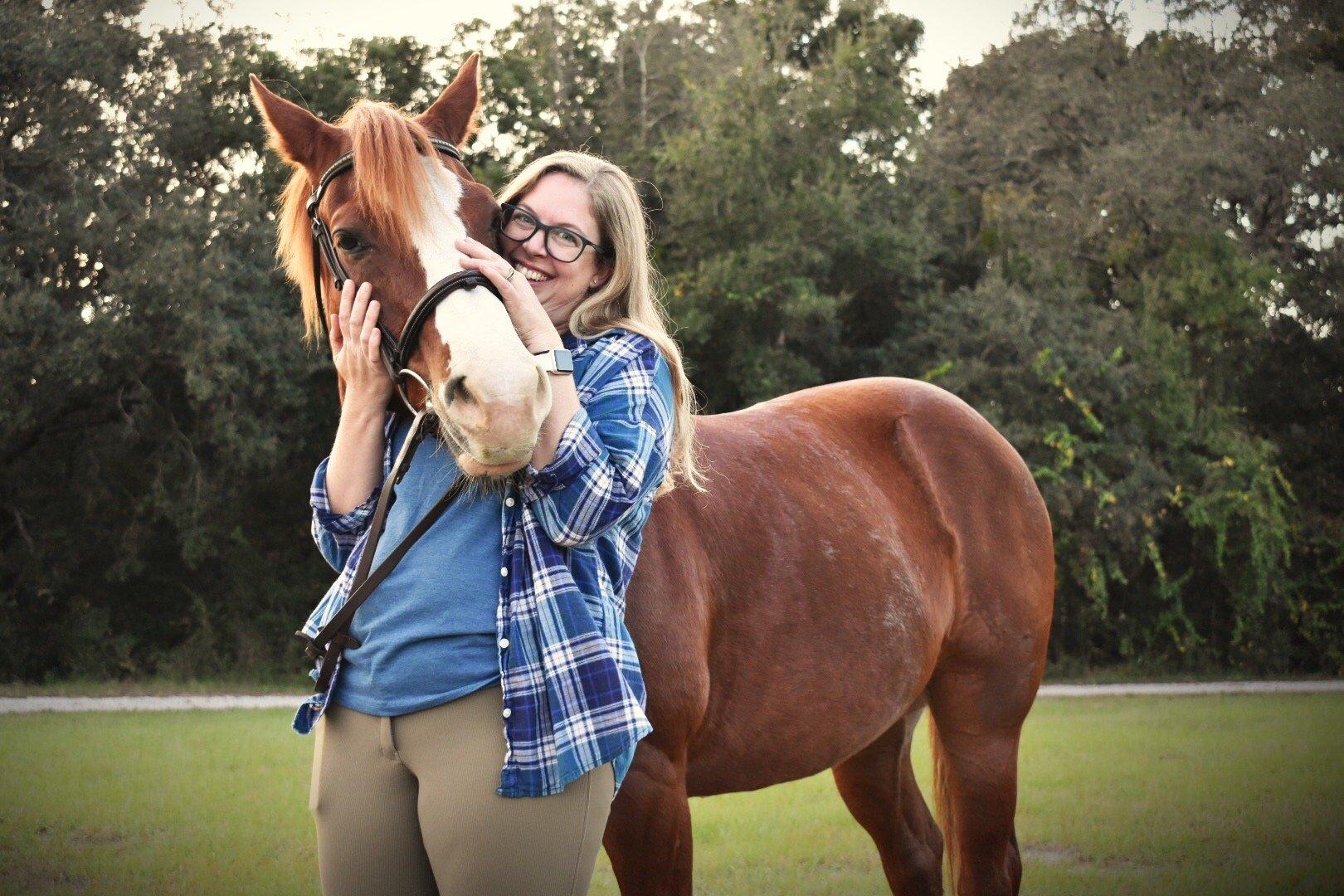 Natalie Keller Reinert and her horse Ben