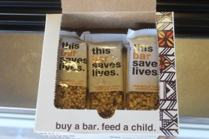 A box of delicious Madagascar Vanilla flavored bars. You can feed yourself and a starving child for only $2.