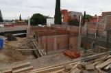 Las Moras construction a year ago
