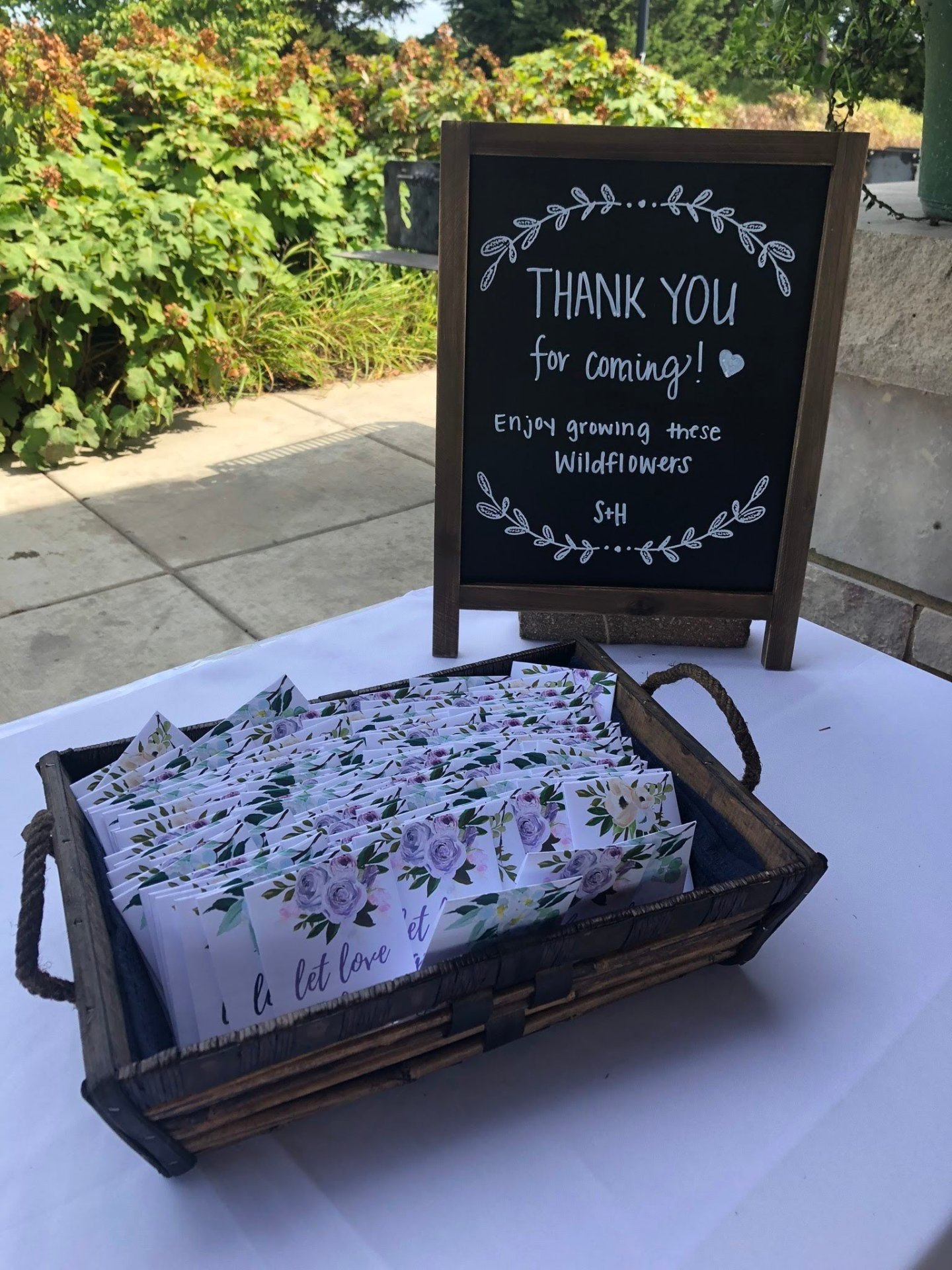 Wildflower Seeds as a Wedding Favor