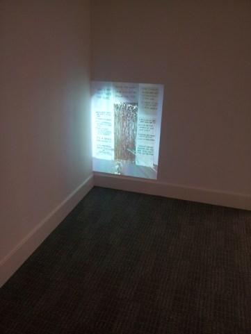 Installation view, video, OpenPlan, Departure Foundation 2013
