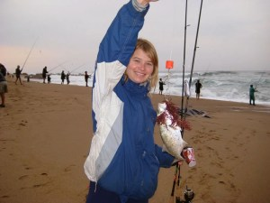 Renske Massing shad fishing...
