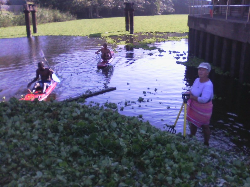 Local surfers led by Cynthia Cole working their weekends away...