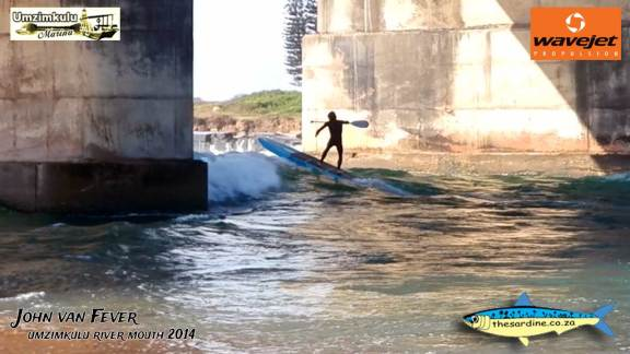 John van Reenen takes on the mighty Umzimkulu Mouth in mighty surf conditions.
