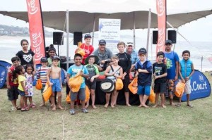 Young anglers  who took part in the catch and release fishing competition with TV fishing show stars Dean Pretorius and Craig Thomassen