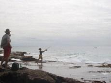 Fishing off the Pomene Point