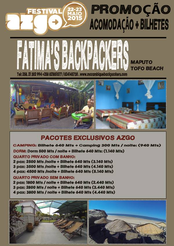 Join us all for a huge party at Fatima's in Tofo this May