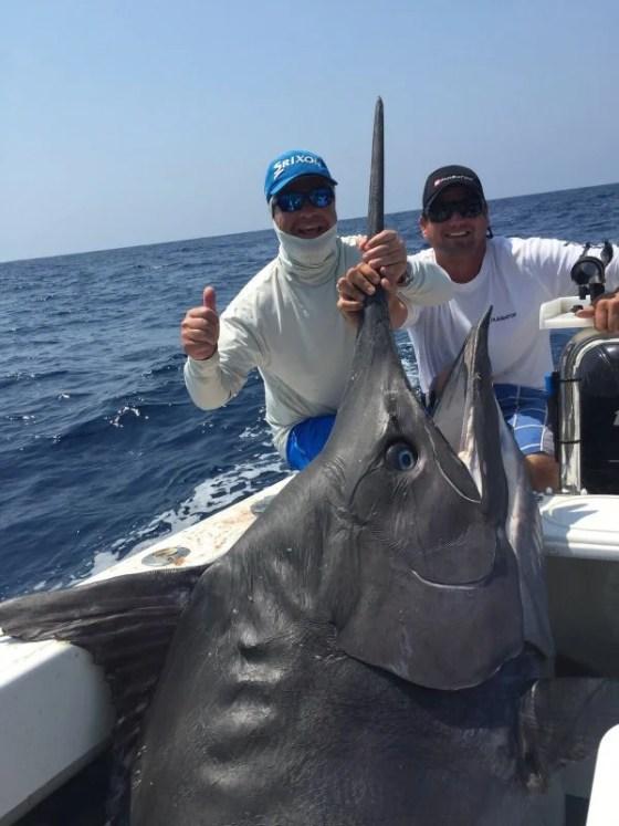 An estimated 1200lb marlin was sharked on Pulsator during this years Bazaruto Marlin Season