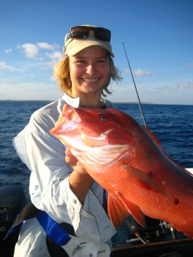 Catch of the day! Ain't she gorgeous! And a Coral Trout