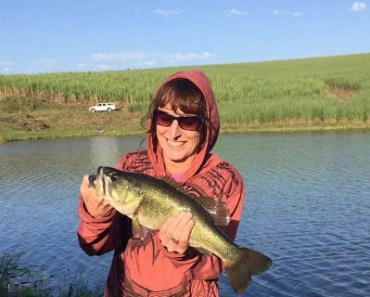 Bass on fly tackle! Fly sailing is a great new way of tackling bass and practising for the saltwater! Niki Tilley with a nice South Coast largemouth bass.