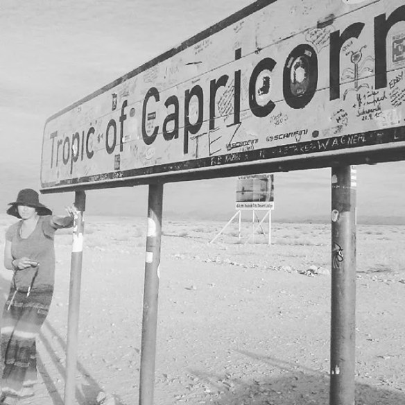 The Frenzy at the 'other' Tropic of Capricorn. This one in Namibia. Stark contrast to the East Coast version. Worth a drive ha ha! #thesardine #artsurfer - Instagram Journal