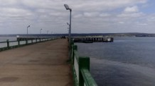 Inhambane Pier - US$50 to park your boat against it!